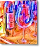 North Carolina Wine Metal Print by Marilyn Sholin
