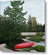 North Country Canoe Metal Print