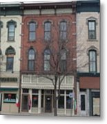 North Country Main Street Of Gouverneur, New York Metal Print