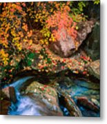 North Creek Fall Foliage Metal Print