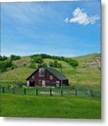 North Dakota Barn Metal Print