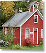 North District School House - Dorchester New Hampshire Metal Print