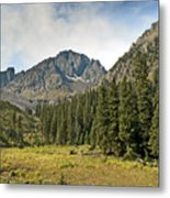 North Face Of Mount Sneffels Above Blaine Basin In The San Juan Mountains Of Colorado Metal Print