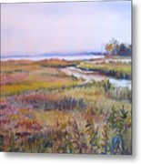 North Fork Marsh Metal Print