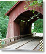 North Fork Yachats Bridge 2 Metal Print