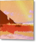 North Friars Bay Diffused Metal Print