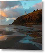 North Head Light Reflections Metal Print