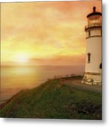 North Head Lighthouse At Sunset Metal Print