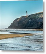 North Head Lighthouse With The Morning Light Metal Print