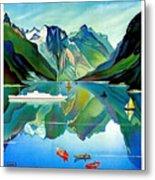 North Kape, Norway, Vintage Travel Poster Metal Print