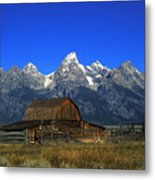 North Moulton Barn Grand Tetons Metal Print