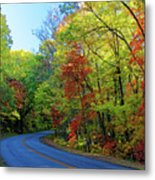 North Of The Folk Art Center In Fall Metal Print