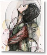 Beautiful Lady Metal Print