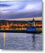 North Pier Evening Metal Print