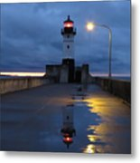 North Pier Reflections Metal Print