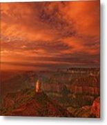 North Rim Storm Clouds Grand Canyon National Park Arizona Metal Print