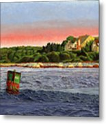 North River At Sunset Metal Print