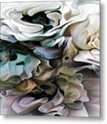 North Shore Abstract Wild Flowers Metal Print