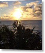 North Shore Sunset Metal Print