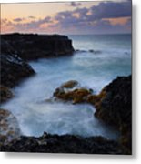 North Shore Tides Metal Print