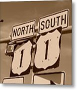 North South 1 Metal Print