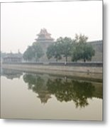 North Wall Of The Forbidden City Beijing China Metal Print