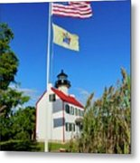 North Wind At East Point Light Metal Print