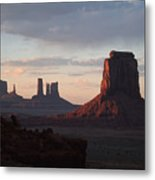 North Window At Sunset Metal Print