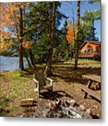 North Woods Lake Three Metal Print