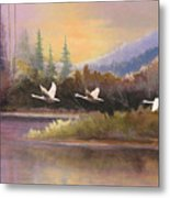 Northern Flight Metal Print