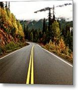Northern Highway Yukon Metal Print