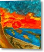 Northern Irish Sunset Metal Print