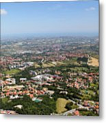 Northern Italy From  Bird's Flight Metal Print