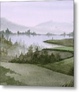 Northern Lake Golf Metal Print