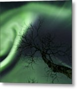 Northern Lights In The Arctic Metal Print