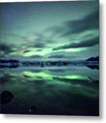 Northern Lights Over Jokulsarlon Metal Print by Matteo Colombo
