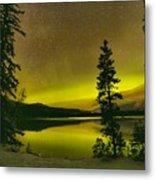 Northern Lights Over The Pines Metal Print