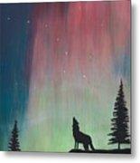 Northern Lights Stardust Metal Print by Jackie Novak