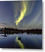 Northern Lights Thingvellir Metal Print
