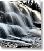 Northern Michigan Up Waterfalls Bond Falls Metal Print