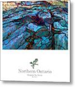 Northern Ontario Poster Series Metal Print
