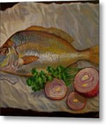 Northern Scup With Dill Onion Metal Print