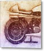 Norton Manx 2 - Norton Motorcycles - 1947 - Vintage Motorcycle Poster - Automotive Art Metal Print