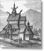 Norway: Borgund Church Metal Print