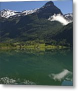 Norway, Briksdal Glacier At Jostedal Metal Print by Keenpress