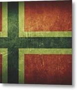 Norway Distressed Flag Dehner Metal Print