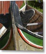 Norway, Reine, Boat In Fishing Village Metal Print