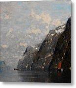 Norwegian Fjord Landscape Metal Print