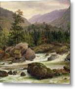 Norwegian Waterfall Metal Print