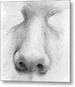 Nose Study - Front Metal Print